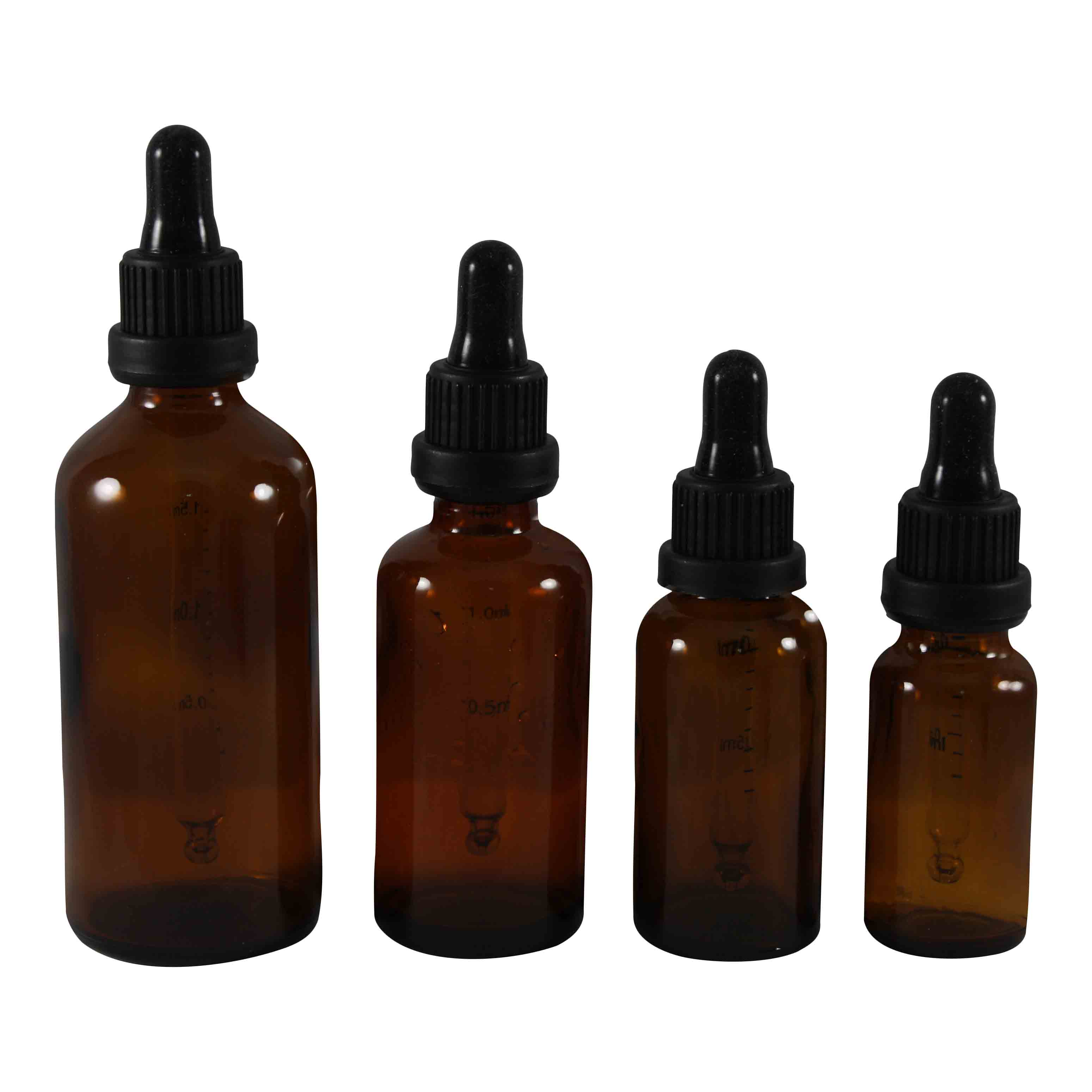 Amber Glass bottles with glass Dropper