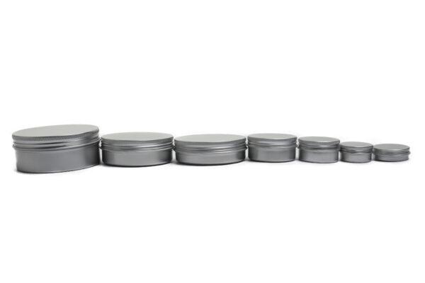 Aluminum Jars with screw Cap