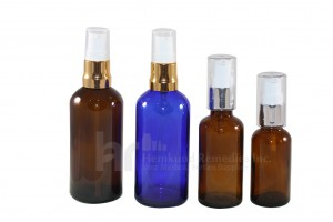 Glass bottles with Treatment Pump