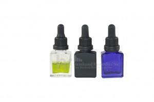Rectangle Glass Bottles w/ glass droppers